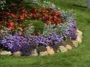 how to garden arranging a flower bed youtube