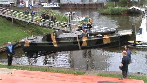 legerboten te koop bridge erection boat leon te water youtube