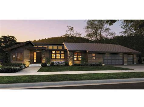 contemporary one story house plans house plans and design modern contemporary single story