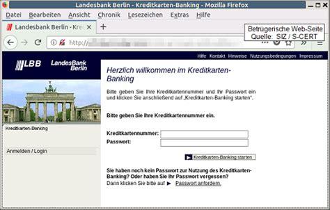 landesbank berlin kreditkartenkonto aktuelle phishing e mails im namen der lbb