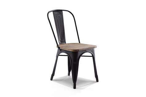chaise bar bois chaise de bistrot industrielle en bois et m 233 tal ch01