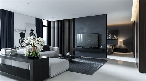 black white interior three black and white interiors that ooze class