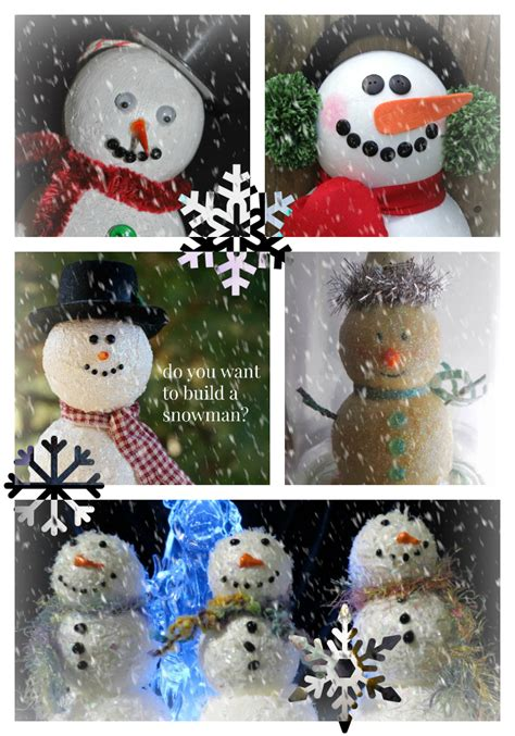 snowman ornaments and holiday decorations smoothfoam