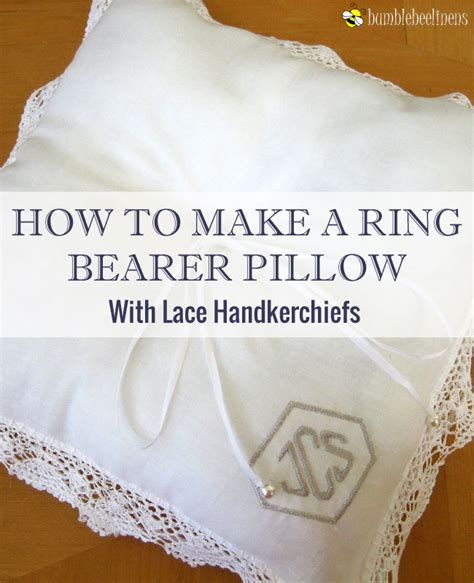 How To Sew A Ring Bearer Pillow by A Ring Bearer Pillow From Wedding Handkerchiefs