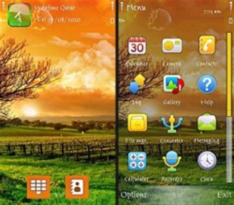 live themes for symbian download free sun rise symbian mobile phone theme 631