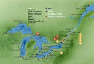map of canada st river st seaway