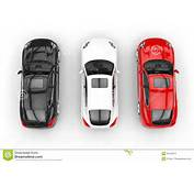 Red White And Black Cars Top View Stock Photography  Image 32429472