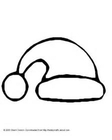 Santa Hat Template by Santa Hat Coloring Page And Template