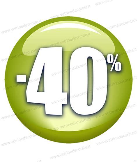 di sconto bollini rotondi 3d con percentuali di sconto