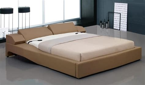overnice leather elite platform bed with electric headboard california vetra
