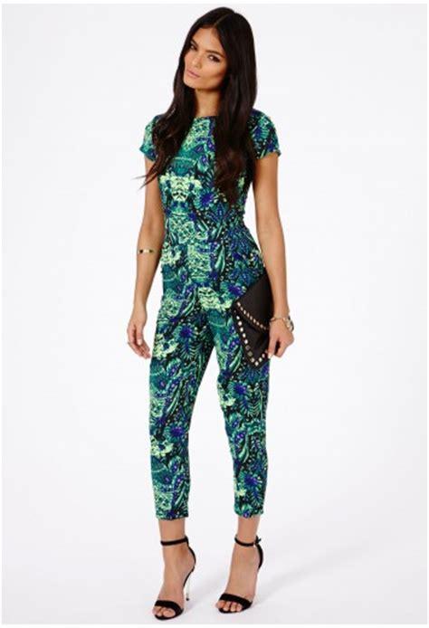 Zyana Dress zyana tropical print playsuit jumpsuits playsuits