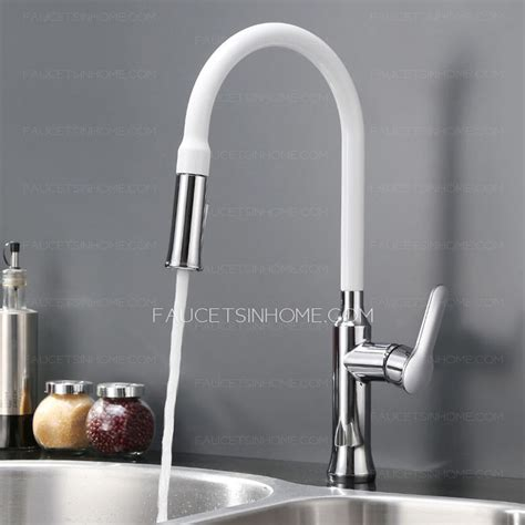 Kitchen Faucets White Finish by Designed Copper White Chrome Finish Pullout Spray For