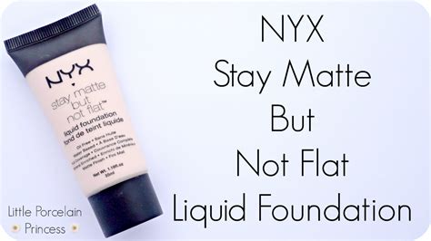 Nyx Stay Matte But Not Flat porcelain princess review nyx stay matte but not flat liquid foundation ivory