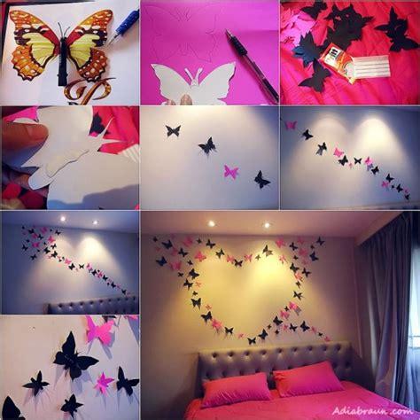 art to decorate your home mariposas de papel para decorar paredes de dormitorio