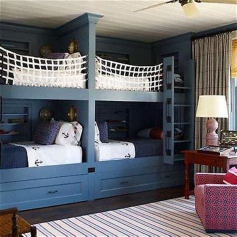 built in bunk beds cottage boy s room hickman design bunk beds design decor photos pictures ideas