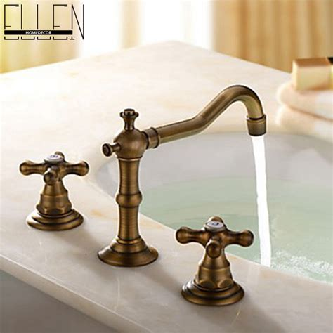 Antique Bronze Bathroom Fixtures Antique Bronze Bathroom Faucets Basin Mixer Handle Bathroom 3 Sink Mixer Taps Jpg