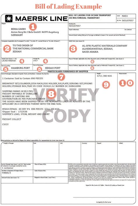 48 best of bill of lading form document template ideas