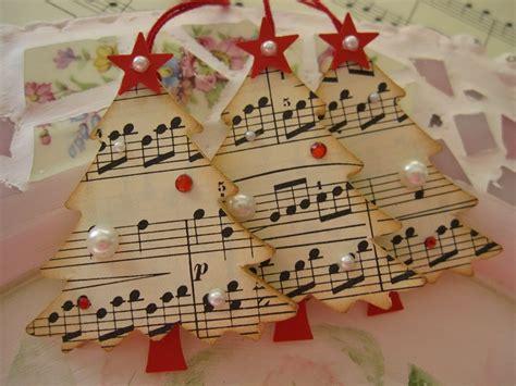 Handmade Songs By - vintage paper trees handmade by me tfl