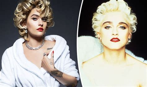 paris jackson vs madonna paris jackson channels madonna as she tugs open robe in
