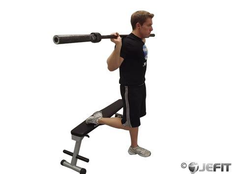 1 leg squat to bench barbell one leg squat exercise database jefit best