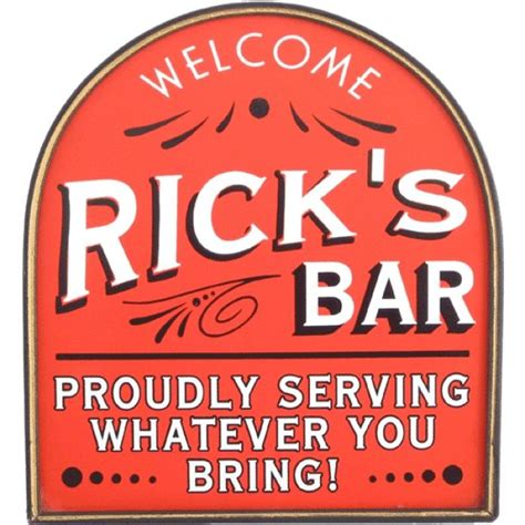 Bar Signs Personalized Bar Sign Welcome Proudly Serving Whatever