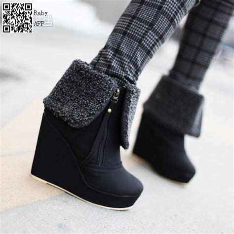 a19nasl new fashion wedge ankle boots high quality