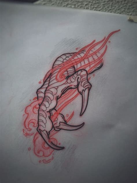 dragon tattoo designs on hand best 25 claw ideas on us armor