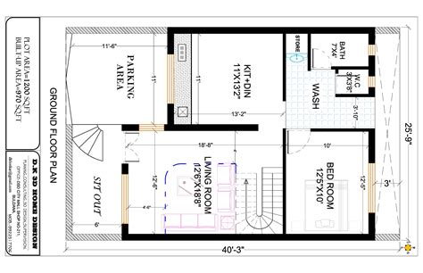 Plan Of Duplex by Duplex House Plan D K 3d And 2d Home Design