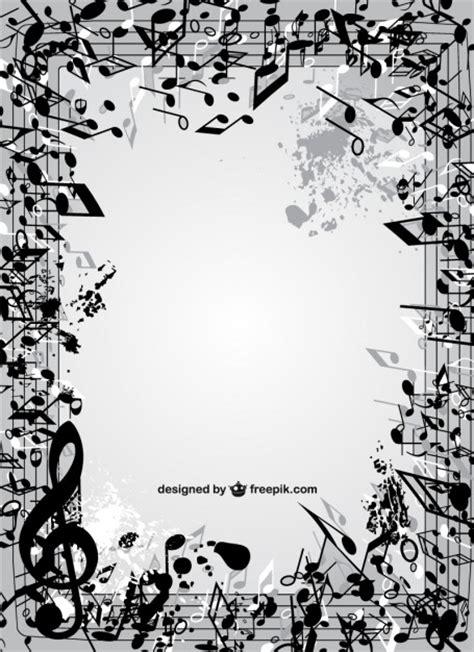 Imagenes Con Motivos Musicales | marco de notas musicales descargar vectores gratis