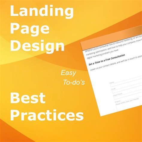 landing page best practice 12 landing page design best practices