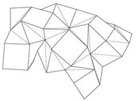 Polygon Paper Folding - design geometry play on cardboard furniture