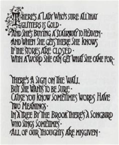 stairwells lyrics led zeppelin led zeppelin symbols and led on