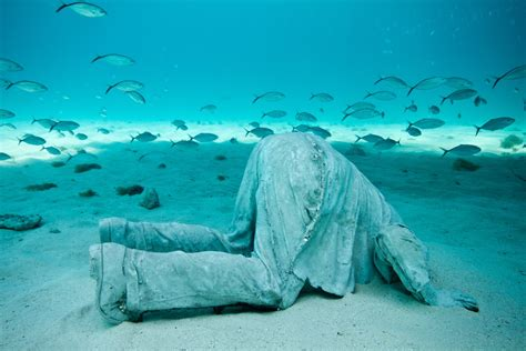Sand L by Lanzarote S Underwater Sculpture Parkgusto Guides