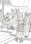 Camel And The Evil Colouring Book Children S Stories From jesus before pilate coloring page supercoloring