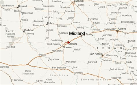 midland texas on map midland location guide