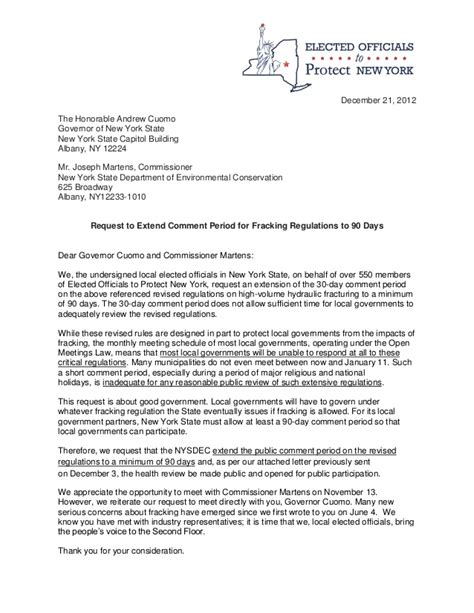 Request Letter To Commissioner Letter From Ny Elected Officials Gov Cuomo Requesting Extension Of P