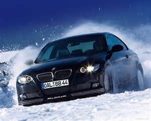 bmw 3 e92 alpina driving snow