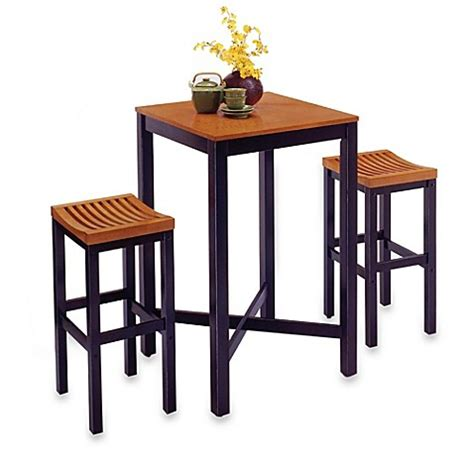 Bed Bath And Beyond Bistro Table Home Styles Hardwood 3 Pub Table Set Bed Bath Beyond