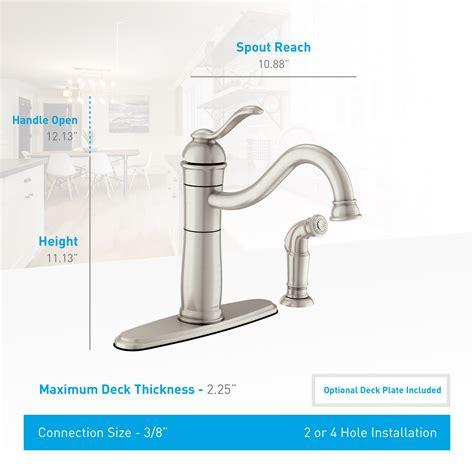Moen Walden Kitchen Faucet by Moen 87427msrs Spot Resist Stainless Microban Single