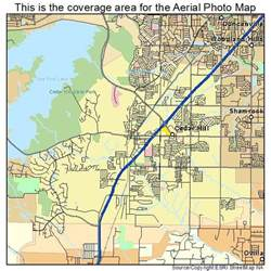 aerial photography map of cedar hill tx