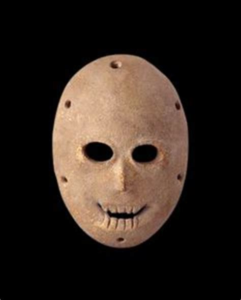 Masker Topeng Gold Original Sj0058 mask from the pre ceramic neolithic period dates to
