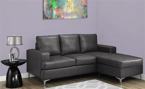 Charcoal Grey Leather Sofa by Charcoal Gray Bonded Leather Sofa Lounger 8600gy Monarch