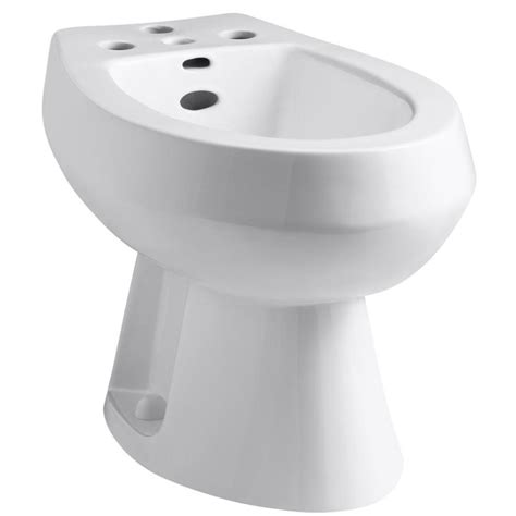 2 In 1 Toilet And Bidet by Shop Kohler San Tropez 15 1 2 In H White Elongated Bidet