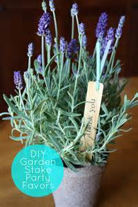 Garden Favors by Diy Garden Stake Favors Guest
