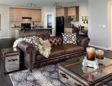 Brown Leather Sofa Chesterfield Living Room Coffee Table Brown Sofa Decorating Living Room Ideas