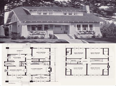 1920 Bungalow House Plans by Original Craftsman Plans 1920 1920 Bungalow House Plans