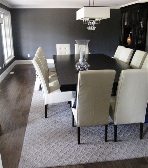 Dining Room With Carpet Area Rug By Mohawk Smartstrand Guided Path
