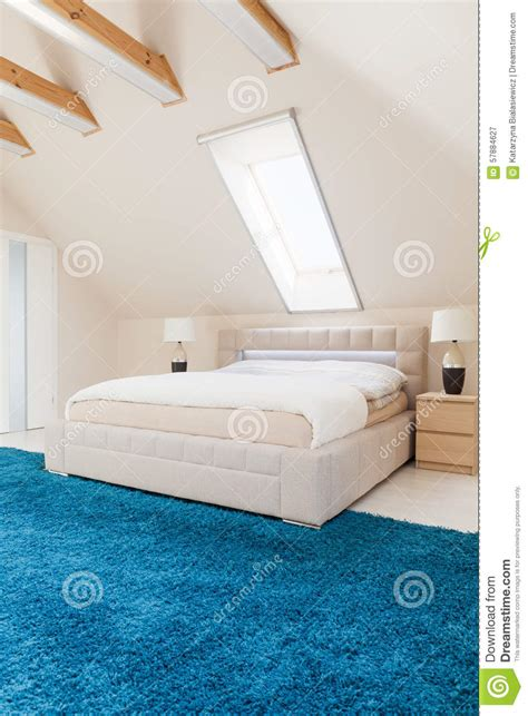 bedroom with blue carpet bedroom with blue carpet stock image image of decor