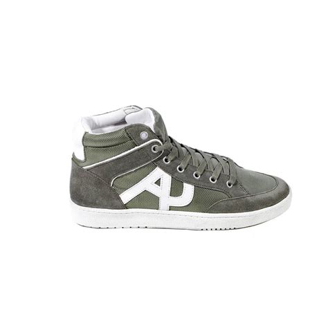 armani shoes armani shoes sneaker boot suede and canvas in green