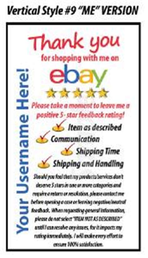 ebay feedback request template 100 ebay seller professional 5 dsr rating package